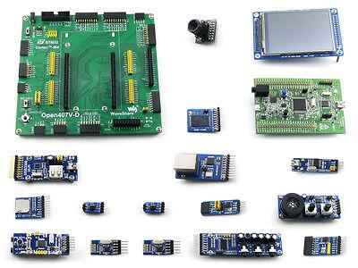 "STM32F4DISCOVERY STM32 Cortex-M4 Development Board +Camera +3.2""LCD + 14 Modules"