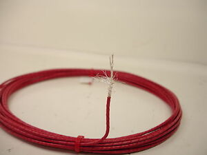 10-feet-26-AWG-Red-Shielded-Silver-Plated-PTFE-Wire-Coax-SPC