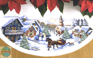 Image Is Loading Cross Stitch Kit Dimensions Sleigh Ride Christmas Tree