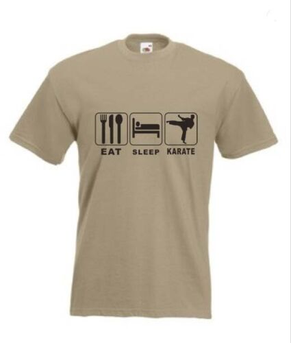 Martial Art Eat Sleep Karate  Funny T-Shirt in any size