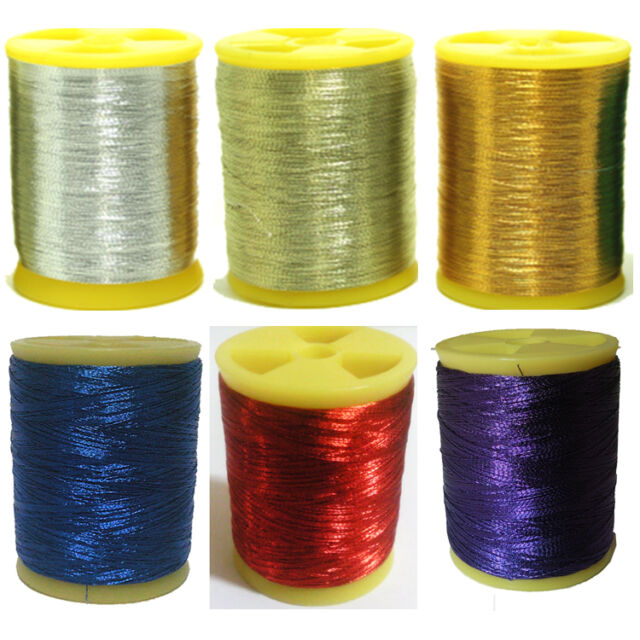 Rod building Wrapping winding metalic thread set 6packs fishing rod