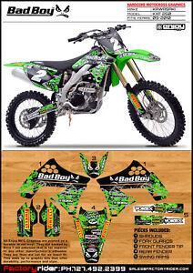 2009 2012 kawasaki kxf 250 badboy motocross graphics kit dirt bike graphics kit ebay. Black Bedroom Furniture Sets. Home Design Ideas