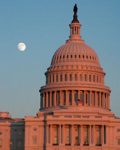 U-S-Capitol-Building-Washington-D-C-Moon-8x10-Fine-Art-Print-Photo