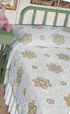 Vintage Crochet Pattern Calico Motif Bedspread Design