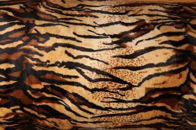 FELLIMITAT Tiger beige Kunstfell Deko Kissen Möbelstoff