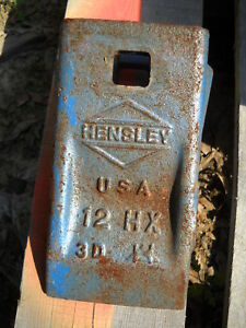 Hensley Excavator Bucket Tooth/Teeth 12 HX/12HX