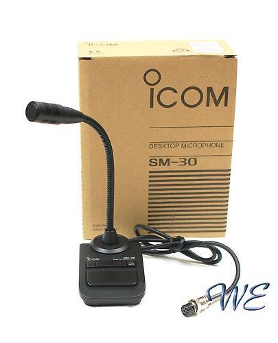 IC-7800 IC-7400 IC-910H IC-970H IC-7410 IC-7200 IC-718 NEW ICOM SM-30 Desk Mic