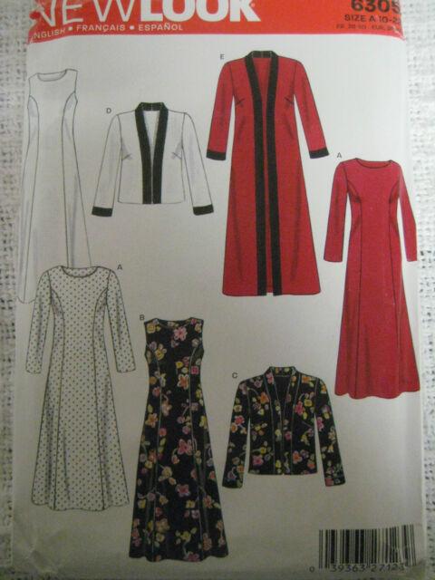 New Look 6305 DRESS & OPEN LONG JACKET Sewing Pattern Women Elegant Duster