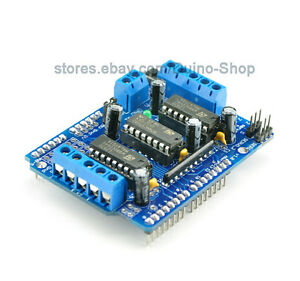 Motor drive shield dual l293d for arduino duemilanove mega 2560 and arduino uno ebay Arduino mega 2560 motor shield
