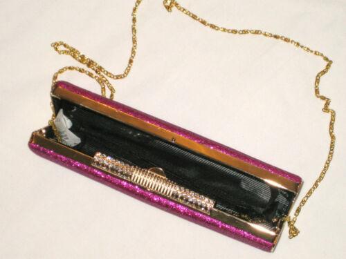 ladies hard case sparkle clutch diamanté bag gold silver black purple grey