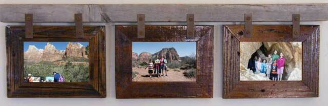 """Picture Frame """"Montana"""" Horizontal Conestoga Collage Frame for (3) 5 X 7s"""