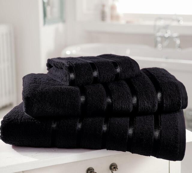 EGYPTIAN 100% PREMIUM COTTON TOWELS QUALITY YARN SATIN STRIPE  13 Colors