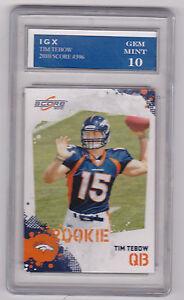 Details About Tim Tebow Score Rookie Card Gem Mint 10 Rc Denver Broncos Rare