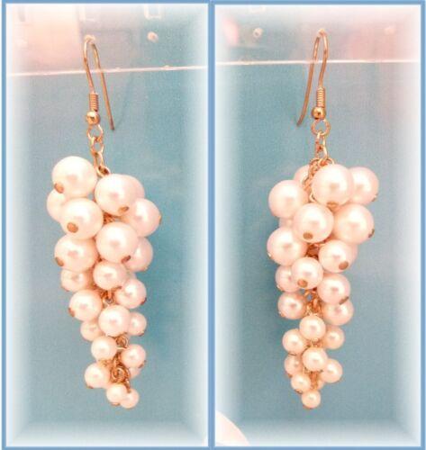 Aretes arte perlas nuevo ohrhänger perlas uvas forma