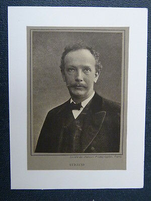 handmade music greetings card with RICHARD STRAUSS  -A-