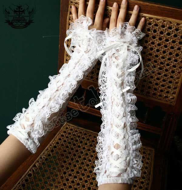 Sweet Lolita French lace Corset ARM WARMER Bridal Glove