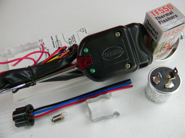 6 six volt directional turn signal switch, 6 v flasher, installation directions