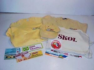 Emerson-Fittipaldi-SKOL-Race-Team-Decals-Shirt-Mixed-Lot-Indy-Racing-Memorabilia