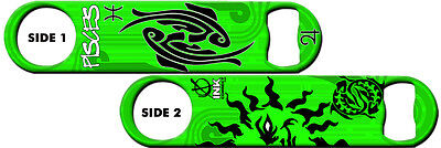 Bartender Bottle Opener: Zodiac: Pisces + Add Name or Text FREE!