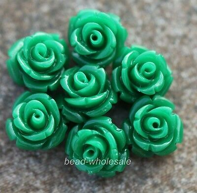 DIY Jewelry Gorgeous Rose Flower Coral Resin Spacer Beads 10mm 12mm 15mm