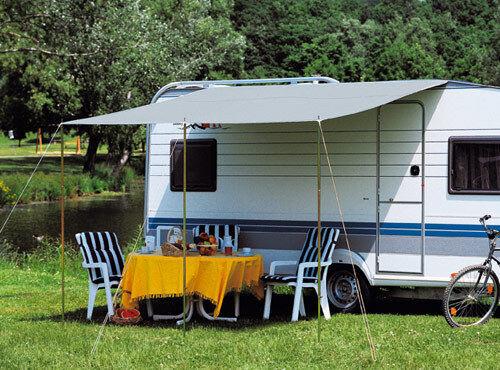 DWT canopy caravan Flora 450x240 CM Grey Awning Camping Tent