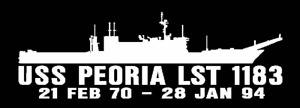 USS-PEORIA-LST-1183-Silhouette-Decal-U-S-Navy-USN-Military