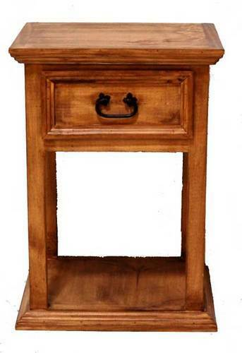 Rustic Tall Nightstand Western Real Solid Wood Cabin Lodge Bedside Table