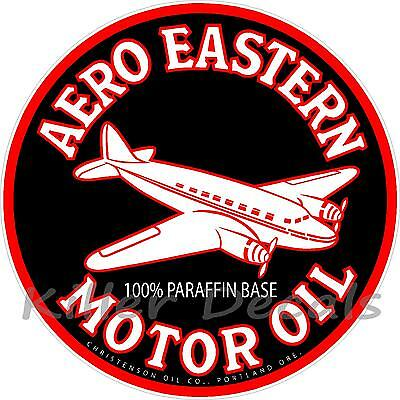 """12"""" AERO EASTERN OIL DECAL GAS AND OIL GAS PUMP SIGN, WALL ART STICKER"""