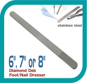 DIAMOND-DEB-FOOT-DRESSER-AND-NAIL-FILE-STAINLESS-STEEL-BRAND-NEW-6-034-7-034-8-034