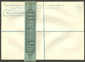 QUEEN VICTORIA UNUSED REGISTERED ENVELOPE WITH WRAPPER BAND RP5I