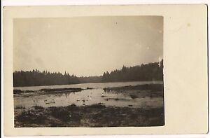 RPPC-Postcard-RIVER-SCENE-Landscape-Dry-Riverbed-Unused-FREE-SHIPPING