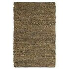 Hand tied Pelle Brown Leather Short Shag Rug (8' x 10') (Brown )