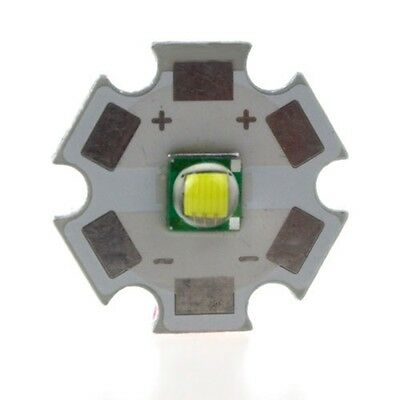 Cree XML T6 White Color 10W LED Emitter Bead Mounted On 20mm Star PCB Flashlight