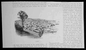 1886 Pic. Australasia Antique Print View of Gympie Queensland Australia