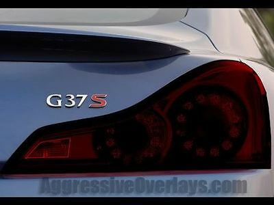08-13 Infiniti G37 Coupe Smoked Tail Light Overlays Tint Film precut