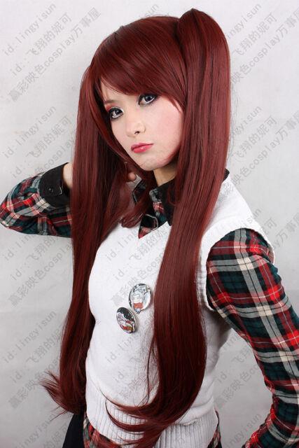 207 Another Akazawa Izumi Cosplay Wig 100cm red brown free shipping