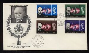 St Vincent Churchill stamps on cachet cover MS0822