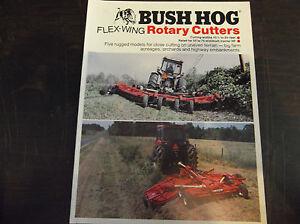 Bush Hog Flex Wing Rotary Cutters Brochure 220 315 2615