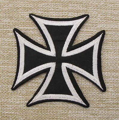 IRON CROSS Embroidered Iron Sew On Patches