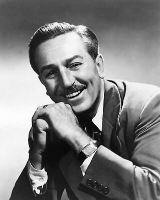 1955 Film Producer WALTER 'WALT' DISNEY Glossy 8x10 Photo Mickey Mouse Portrait