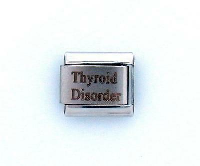 Thyroid Disorder Laser Medical Alert for Italian Charm Bracelets Free Card