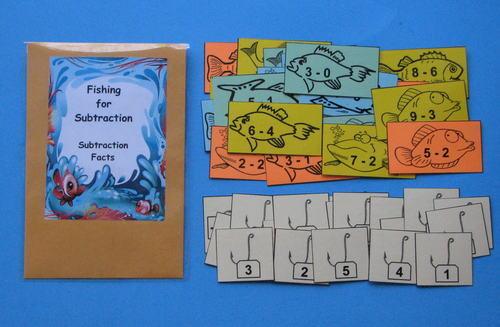 Teacher Made Math Center Resource Game Subtraction Facts