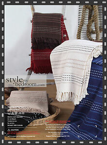 Luxury-Stitch-Stripe-100-Cotton-Sofa-Bed-Throw-6-Colours-3-Sizes