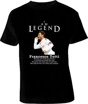 Francesco Totti As Roma Legend Soccer Futbol T Shirt