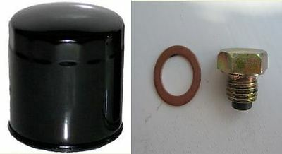 HiFlo Oil Filter & Magnetic Sump Plug for Yamaha FZS 1000 Fazer, from 2001- 05