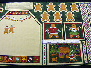 GINGER-TREES-CUT-SEW-CHILDS-CHRISTMAS-APRON-FABRIC-PANEL-GINGERBREAD
