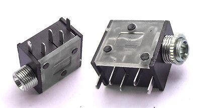 "20PCS 5-Pin 1/8"" 3.5mm Jack Stereo Headphones Socket nut PCB Panel Mount Chassis"