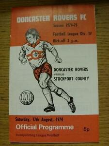 17081974 Doncaster Rovers v Stockport County  Team Changes Item In very goo - Birmingham, United Kingdom - 17081974 Doncaster Rovers v Stockport County  Team Changes Item In very goo - Birmingham, United Kingdom