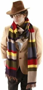 Dr-Doctor-Who-12-Deluxe-Striped-Scarf-Fourth-4th-Costume-Tom-Baker-BBC-LICENSED