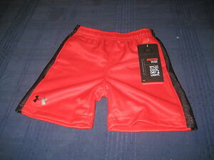 BOYS-KIDS-UNDER-ARMOUR-HEATGEAR-SHORTS-RED-SIZE-18-months-NWT-NEW-WITH-TAG